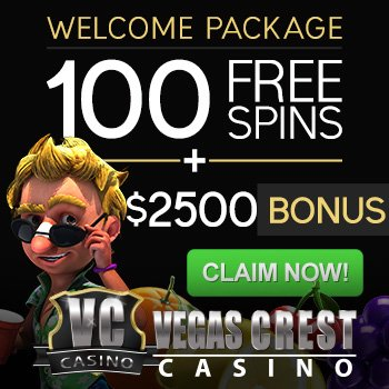 100 Free Spins Vegas Crest