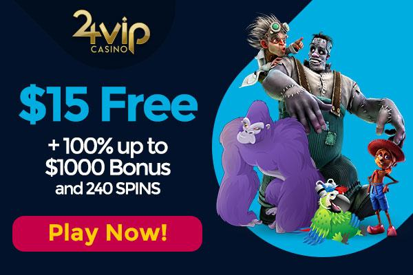 24VIP $15 Free Bonus